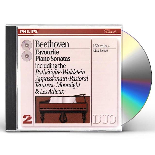 Alfred Brendel;Ludwig van Beethoven FAVORITE PIANO SONATAS CD