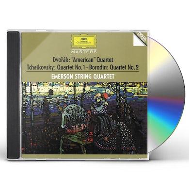 Emerson String Quartet DVORAK / TCHAIKOVSKY / BORODIN: STRING QUARTETS CD