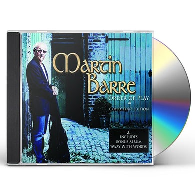 Martin Barre ORDER OF PLAY COLLECTOR'S EDITION CD