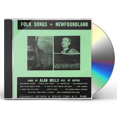 Alan Mills FOLK SONGS OF NEWFOUNDLAND CD