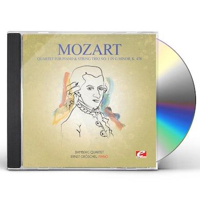 Wolfgang Amadeus Mozart QUARTET FOR PIANO & STRING TRIO NO. 1 IN G MINOR K CD