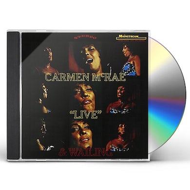 Carmen McRae LIVE & WAILING CD