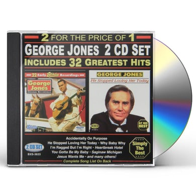 George Jones 32 GREATEST HITS CD