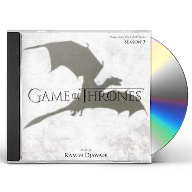 RAMIN DJAWADI GAME OF THRONES SEASON 3 TV SOUNDTRACK CD
