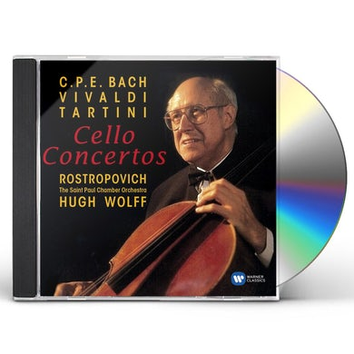 Mstislav Rostropovich BAROQUE CELLO CONCERTOS CD