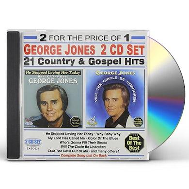 George Jones 21 COUNTRY & GOSPEL HITS CD