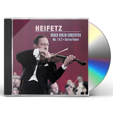 Jascha Heifetz BRUCH: VIOLIN CONCERTOS NO. 1. NO. 2 CD