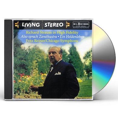 Fritz Reiner R. STRAUSS: EIN HELDENLEBEN & ALSO CD