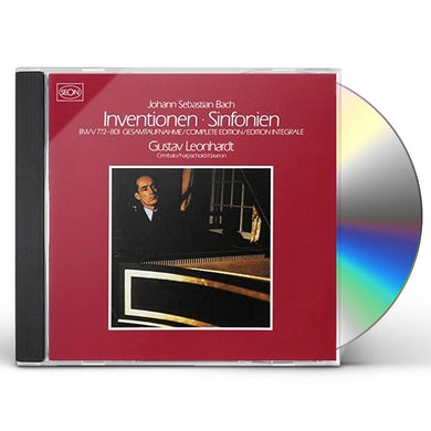 Gustav Leonhardt BACH: INVENTIONS & SINFONIAS CD