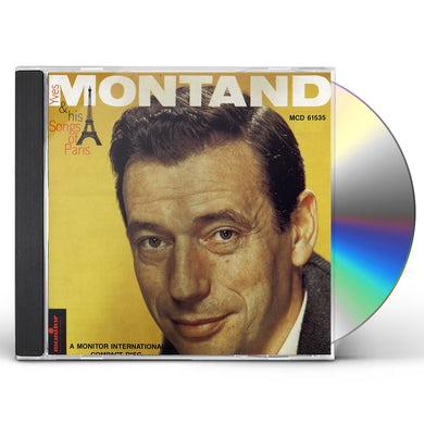Yves Montand SONGS OF PARIS & OTHER CD