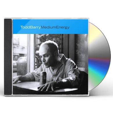 Todd Barry MEDIUM ENERGY CD