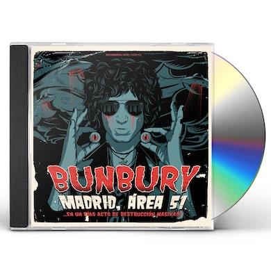 Bunbury MADRID AREA 51: EN UN SOLO ACTO DE DESTRUCCION CD