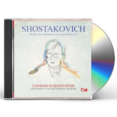 Shostakovich THEME & VARIATIONS IN B-FLAT MAJOR OP. 3 CD