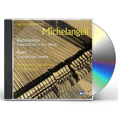 Arturo Benedetti Michelangeli RAVEL & RACHMANINOFF: PIANO CONCERTOS CD