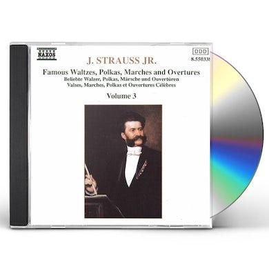 Johann Strauss WALTZES, POLKAS, MARCHES & OVERTURES 3 CD