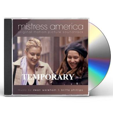 Dean Wareham / Britta Phillips MISTRESS AMERICA / Original Soundtrack CD