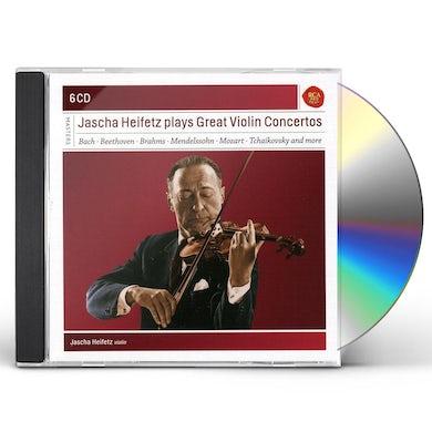 JASCHA HEIFETZ PLAYS GREAT VIOLIN CONCERTOS CD