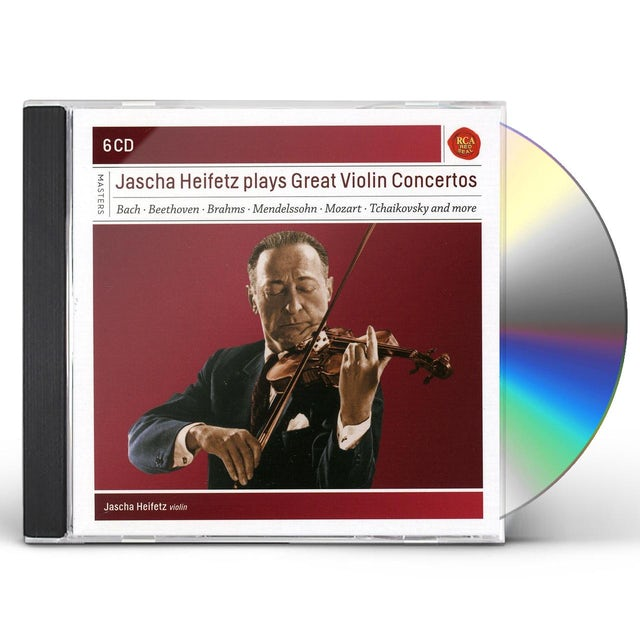 Jascha Heifetz PLAYS GREAT VIOLIN CONCERTOS CD
