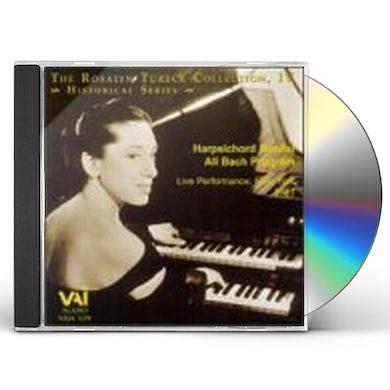 Rosalyn Tureck PLAYS HARPSICHORD CD