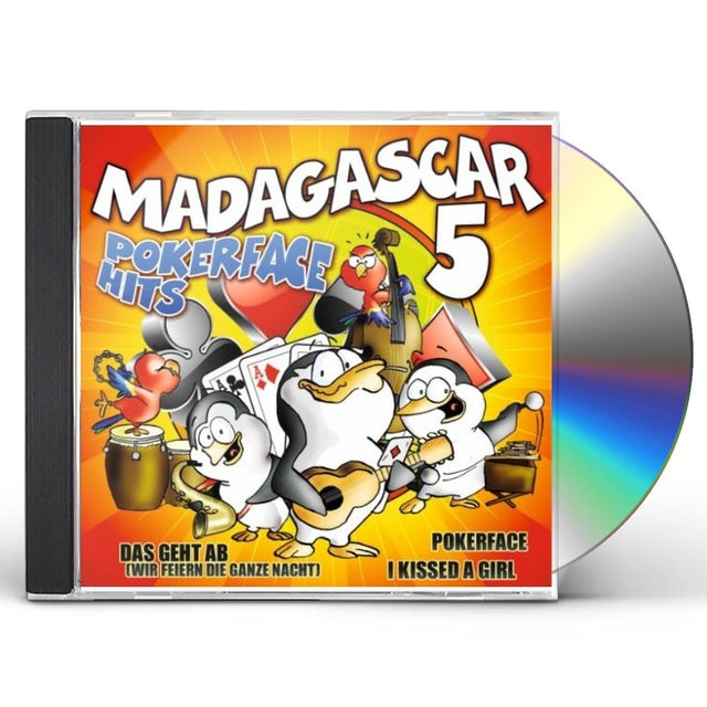 Madagascar 5 POKERFACE HITS CD