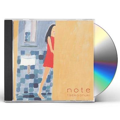 Taeko Onuki NOTE CD
