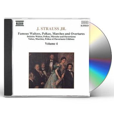 J. Strauss WALTZES, POLKAS, MARCHES & OVERTURES 4 CD