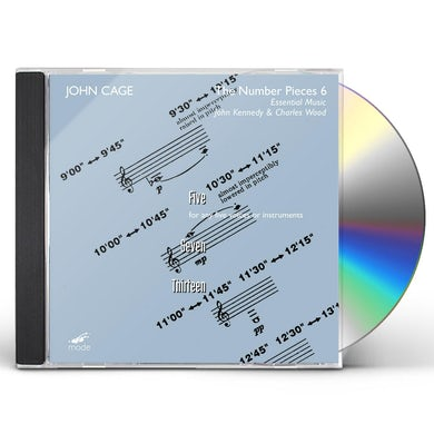 John Cage NUMBER PIECES 6: FIVE / SEVEN / THIRTEEN CD