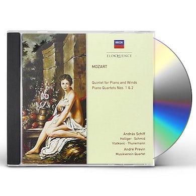 Andre Previn MOZART: PIANO QUARTETS / PIANO QUINTET CD