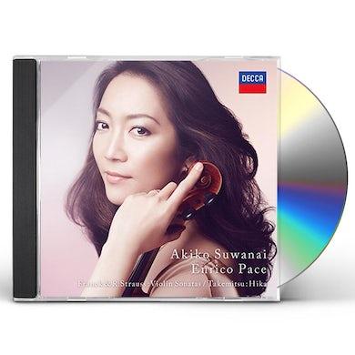 Akiko Suwanai FRANCK & R.STRAUSS: VIOLIN SONATAS / TAKEMITSU CD