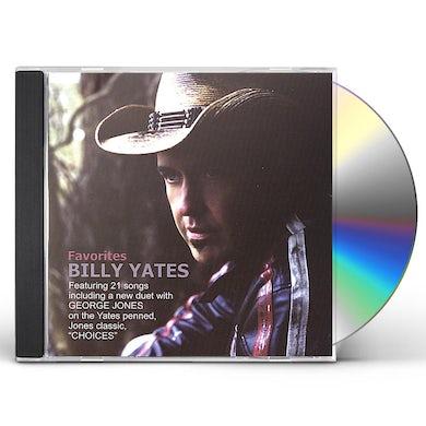 Billy Yates FAVORITES CD