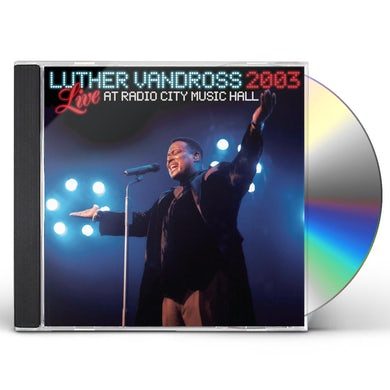 Luther Vandross LIVE RADIO CITY MUSIC HALL 2003 CD