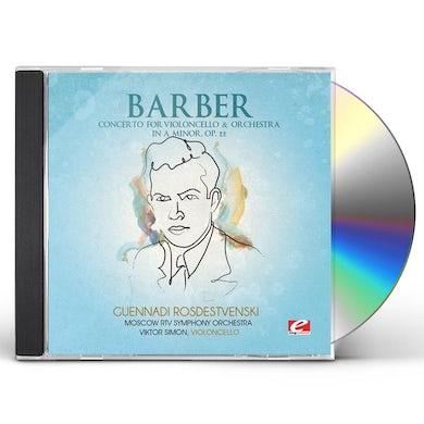 CONCERTO VIOLONCELLO & ORCHESTRA IN A MINOR CD