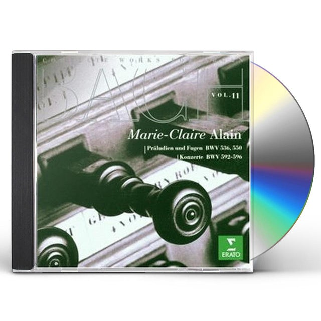 J.S. Bach COMPLETE ORGAN WORKS 11 CD