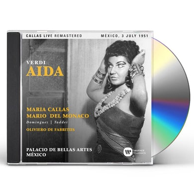 Maria Callas VERDI: AIDA (MEXICO 03/07/1951) CD
