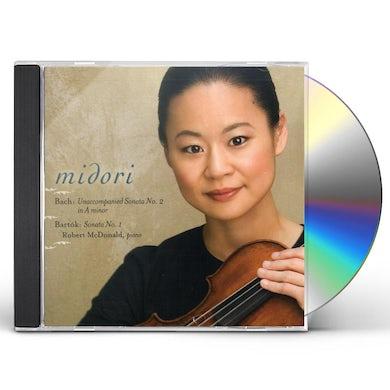 Midori BACH: SONATA NO 2 IN A MINOR / BARTOK: SONATA NO 1 CD