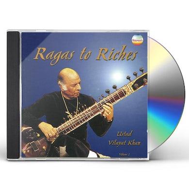 Vilayat Khan RAGAS TO RICHES 1 CD