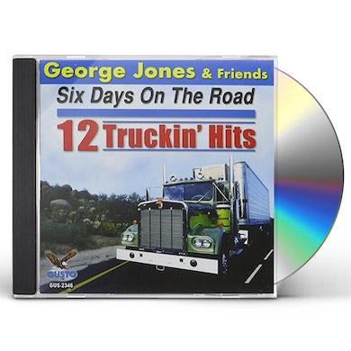 George Jones SIX DAYS ON THE ROAD: 12 TRUCKIN HITS CD