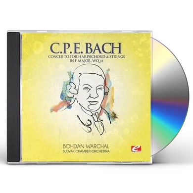 C.P.E. Bach CONCERTO FOR HARPSICHORD & STRINGS F MAJ CD