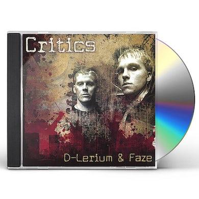 D-Lerium & Faze CRITICS CD
