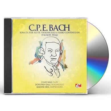 C.P.E. Bach SONATA FOR FLUTE VIOLONCELLO & BASSO D MAJ CD