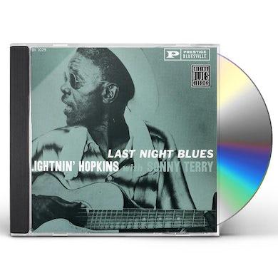 Lightnin Hopkins LAST NIGHT BLUES CD
