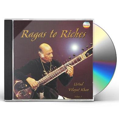 Vilayat Khan RAGAS TO RICHES 2 CD