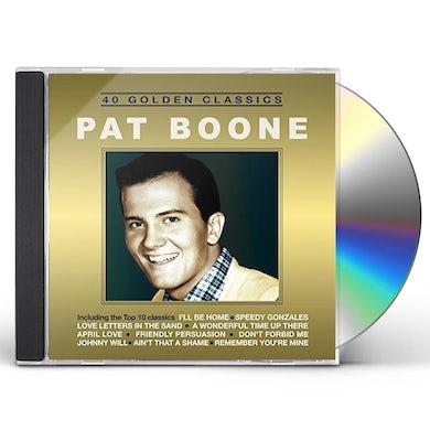 Pat Boone 40 GOLDEN CLASSICS CD