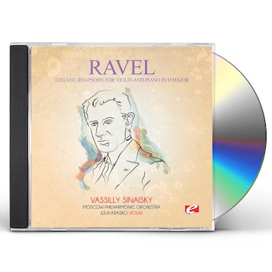 Ravel TZIGANE RHAPSODY FOR VIOLIN PIANO D MAJOR CD