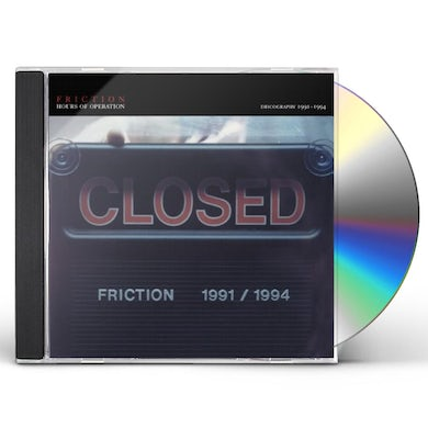 Friction DISCOGRAPHY 1991-1994 CD