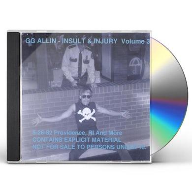 Gg Allin INSULT & INJURY 3 CD
