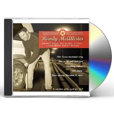 Randy McAllister CRAPPY FOOD NO SLEEP A VAN & SOME GREAT SONGS CD