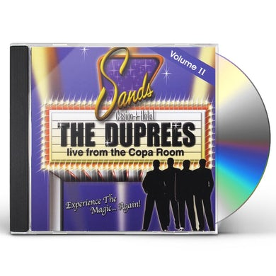 Duprees LIVE FROM THE COPA ROOM VOL. II CD