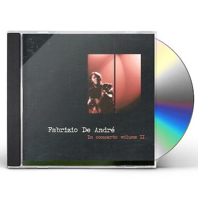 Fabrizio De Andre IN CONCERTO VOL 2 CD