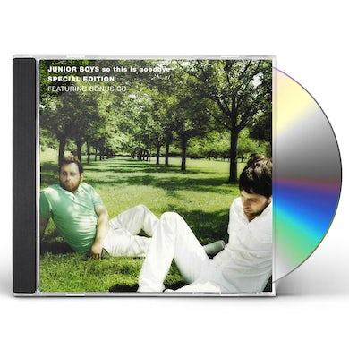 Junior Boys SO THIS IS GOODBYE CD